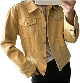 neveraway Women Casual Parka Outwear Pockets Button-up Solid Outwear Coat