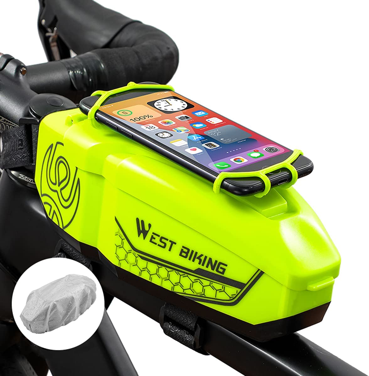 Top Tube Bike Phone Bag Mount with Recommended Front Frame Easy-to-use Bicycle
