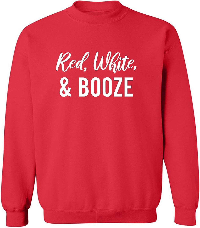 Red, White & Booze Crewneck Sweatshirt
