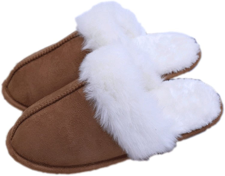 LINGMIN Women's Plush Fur Slip-On Comfort House Slipper,Cozy Nonslip,Softness Terrycloth