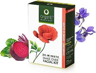 Organic Harvest Diamond Shine & Glow Facial Kit, Improves Radiant & Natural Glow To Skin, For All Skin Type,100% Organic, ...