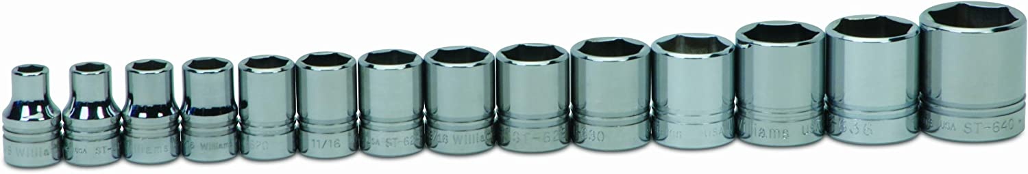 Williams WSS-14HRC 14-Piece 1 OFFicial site Factory outlet 2-Inch Socke Drive Shallow 6 Point