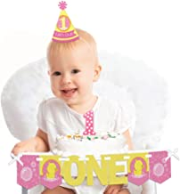Big Dot of Happiness Pink Ducky Duck 1st Birthday - First Birthday Girl Smash Cake Decorating Kit - High Chair Decorations