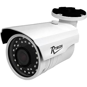 R-Tech CA-IR140-HD 4-in-1 AHD/CVI/TVI/Analog Outdoor Bullet Security Camera IR LEDs for Night Vision - 2.8-12mm Varifocal