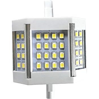 R7S 78Mm LED COB Light for Ceiling Light Floor Lamp 4-Pack Dimmable R7S LED Bulb 78Mm 10W T3 LED J78 J-Type Light Bulb Equivelent 100W Glass Tungsten Halogen