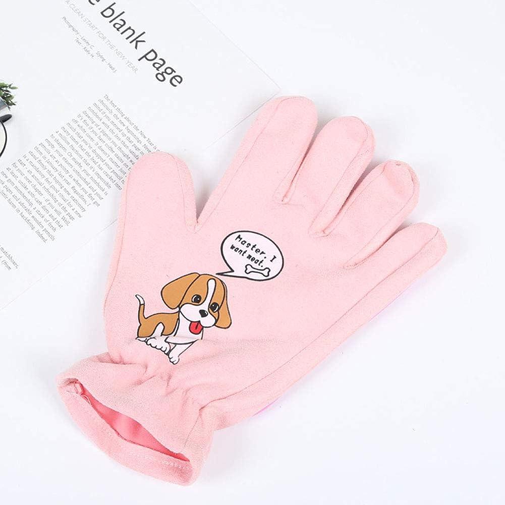 改修する夕食を食べる空白犬の猫は、手袋、脱毛ツール、犬の猫の脱毛器、ペットの犬の猫のマッサージツールとバスブラシの脱毛の長さや縮毛の櫛、青、ピンク、左手と右手,Pink
