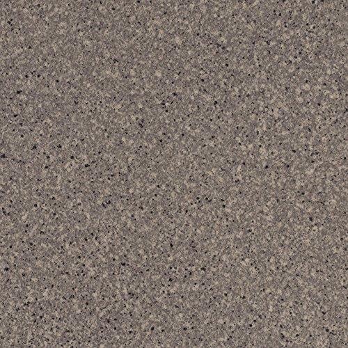 BODENMEISTER BM70555 Vinylboden PVC Bodenbelag Meterware 200, 300, 400 cm breit, Steinoptik Granit grau
