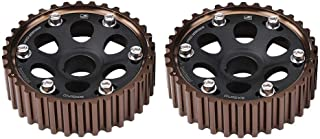 Suuonee Cam Gear, Pair of Aluminum Racing Camshaft Gear Set for Honda Integra Civic for B16A/B16B/B18C Engine(black)