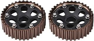 Camshaft Gears, Fydun 1 Pair of Aluminum Racing Timing Camshaft Gear for Honda Integra Civic for B16A/B16B/B18C Engine(Black)