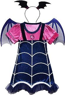 LENSEN Tech Girls Vampirina Costume Outfit Halloween Dress Up