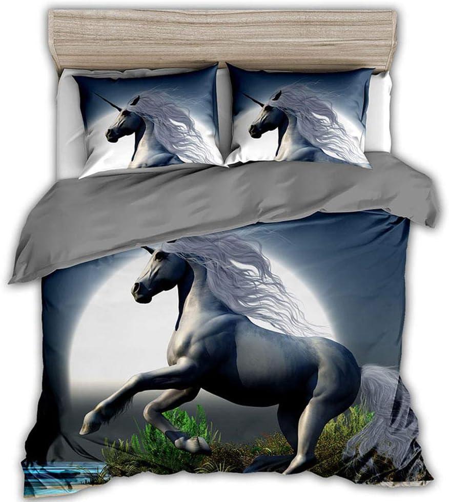 AWDDDER 3D Printed Bedding Single with Pillowcase Cover 2 Duvet ...