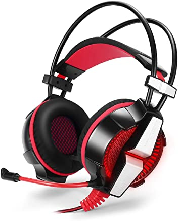 MYLJX Gaming Headset for PS4 Wired PC Gamer Stereo Gaming Headphones with Microphone LED Lights Comfort Noise Reduction for Xbox One//Laptop Tablet-1