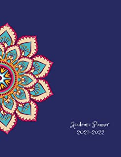 """Academic Planner 2021-2022: monthly planner july 2021-june 2022 size 8.5"""" x 11"""" mandala cover"""