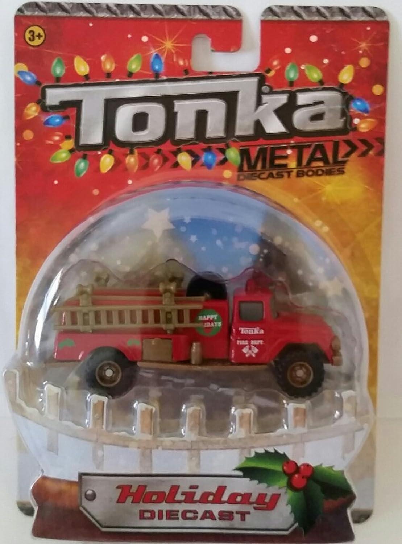 compra limitada Tonka Metal Body Holiday Diecast Fire Fire Fire Department Truck by Tonka- Hasbro  Hay más marcas de productos de alta calidad.