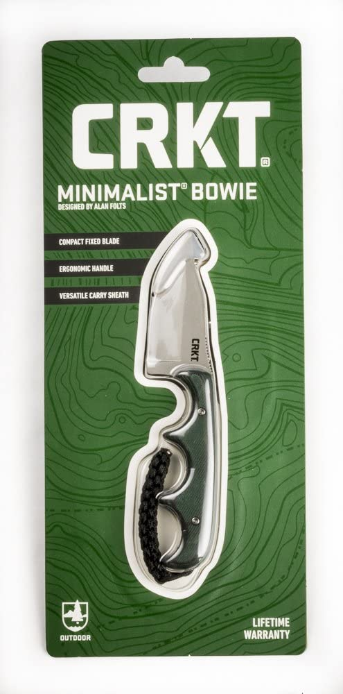 CRKT Minimalist Bowie Neck Knife: Package Compact Finally popular brand B Fixed Ranking TOP18 Retail