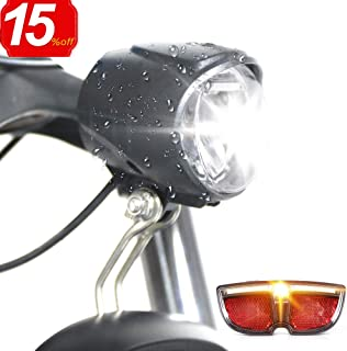 Greenergia Electric Vehicle Headlight and Tailigt Water Proof 6V Spotlight Headlight and Rear Light Fit 8fun BBS and BBSHD Motor