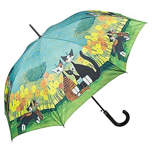 VON LILIENFELD Regenschirm Automatik Damen Kunst Motiv Katze Rosina Wachtmeister: All Together