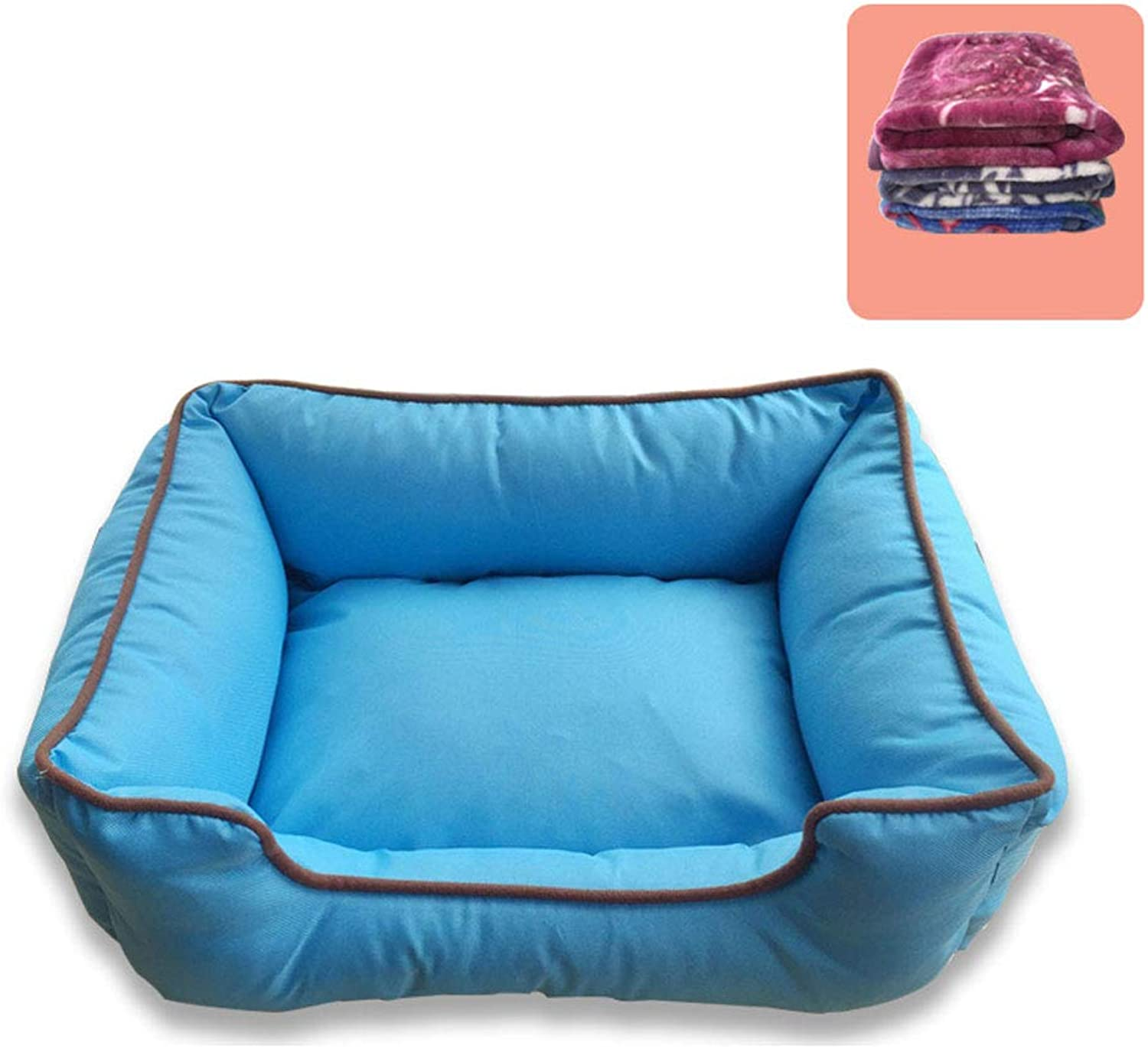 C_1X Kennel, Winter, Warm, Washable, Cat Litter, Dog Mat, Small and Medium Dogs, Indoor, Dog Bed, Pet Supplies, Pet Litter, House((bluee, pink Red, Dark Green),