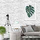 """197""""×18"""" 3D Brick Wallpaper Peel and Stick Wallpaper White Gray Brick Wallpaper Self Adhesive Grey Brick Removable Wallpaper Textured Brick Wallpaper Stick and Peel for Fireplace Wall Vinyl"""