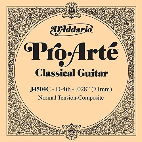 Enkele snaren, Spaanse gitaar, serie Pro Arte Composite D-4 (Re), gedraaid, gemiddelde spanning.