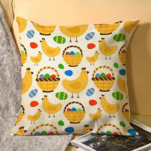 happygoluck1y - Fundas de cojín de Pascua con patrón de fondo sin costuras, diseño retro vintage, 18 x 18 cm, fundas de almohada de Pascua, funda de almohada decorativa para decoración del hogar, regalos de Pascua