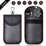 Keyless Go Schutz Autoschlüssel, 2 STK Mini RFID Autoschlüssel Schutz Keyless Go Schutzhülle Funkschlüssel Abschirmung Schlüsselmäppchen Leder Schlüsseletui Schlüsseltasche...