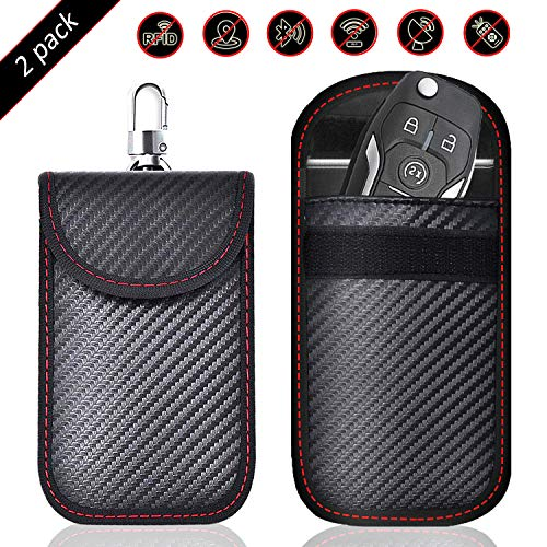 Large for Keys and Mobile Phone ARMADILLO PRO-TEC Faraday Car Key Signal Blocker RFID Signal Blocking Faraday Cage Bag Stops Theft//Hacking//Cloning//Tracking