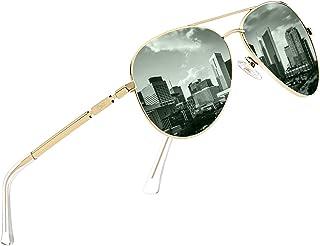 DUCO Designer Polarized Sunglasses Vintage Round Sunglasses With Case 100% UV400 Protection 3025K