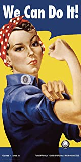 Rosie the Riveter We Can Do It Vintage Advertising Art Poster Print (unframed 12 x 24)