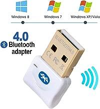 Maxesla Adaptador de Bluetooth 4.0 Bluetooth USB PC Bluetooth Transmisor y Receptor para PC con Windows XP/7/8/10/Vista, Plug and Play Compatible con Auriculares, Altavoces, Teclados, Ratónes