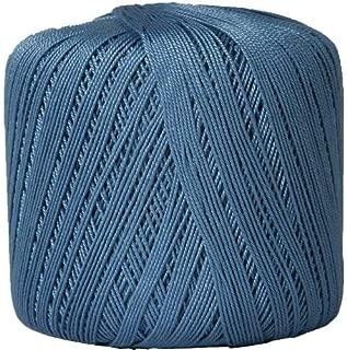 Threadart 100% Pure Cotton Crochet Thread - Size 10 - Color 28 - SLATE BLUE -2 sizes 27 colors available