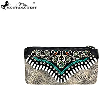 Montana West Womens Western Wallet Embroidered Collection Embossed Vintage Pattern MW726-W021