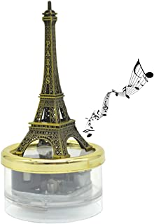 Eiffel Tower Clockwork Music Box, Gifts for Son/Daughter Play The Tune Fur Elise Unique Gifts for Friends Classic Ornament Crafts (Fur Elise)