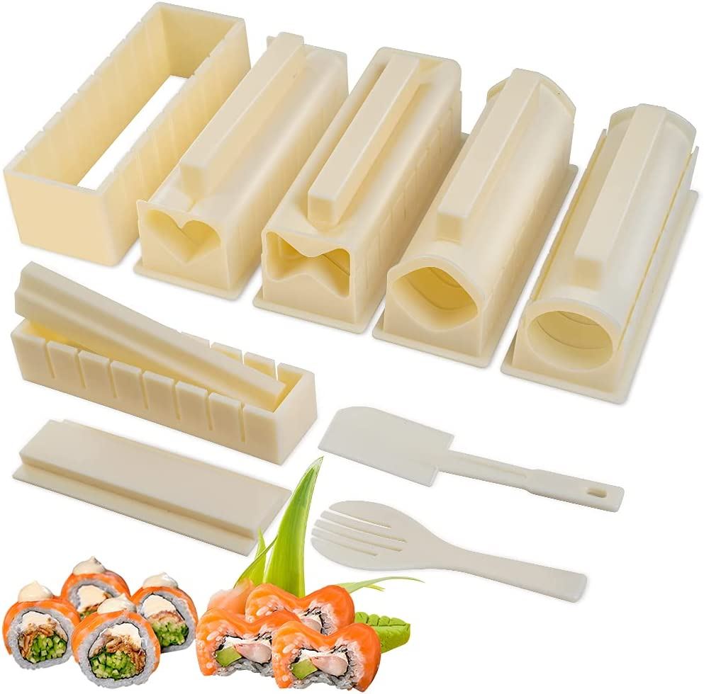 Upgraded Bombing free shipping Credence Sushi Making Kit Deluxe Set Edition Complete with