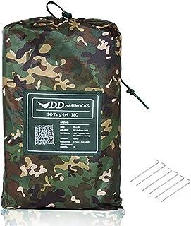 """DD Tarp タープ 4x4 耐水性 3000mm 使いやすい正方形タープ & 6 x 9"""" Tent Pegs セット (MC) [並行輸入品]"""