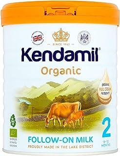 Leche de seguimiento orgánica Kendamil, Etapa 2, 6-12 meses - Fórmula de leche entera orgánica hecha en el Reino Unido - Sin aceite de palma, sin aceite de pescado, sin soja, sin OMG - (800g)
