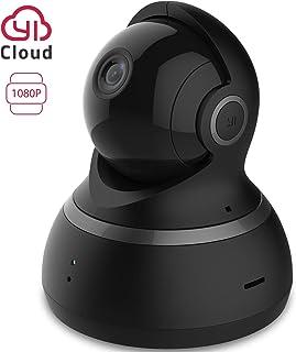 YI Camara Vigilancia 1080p Camara IP Camara Seguridad WiFi de Interior con Rotación 360° Detección de Movimiento Visión Nocturna Audio de 2 Vias y Nube con App para iOS y Android (Negro)