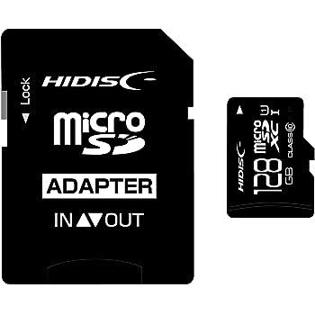 HIDISC microSDXCカード 128GB CLASS10 UHS-1対応 SD変換アダプタ/ケース付き HDMCSDX128GCL10UIJP3