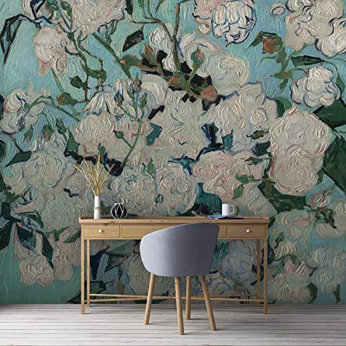 """Florale Kunst Tapete """"Die Rosen"""" nach Vincent Van Gogh, Vlies Tapete nach Maß - extravagante Wanddeko, GMM Panorama Tapete Wandbild als Wohnakzent (Format: 2m x 2,79m)"""