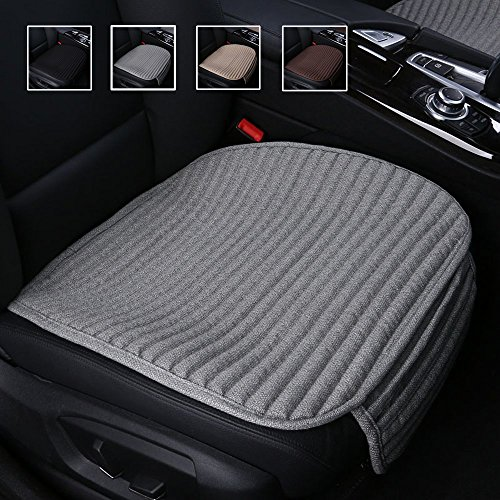 Suninbox Car Seat Covers, Car Seat Cushion,Buckwheat Hulls Car Seat Pads Mat for Auto,Universal Bottom Driver Car Seat Protector Ventilated Breathable Comfortable(Gray)