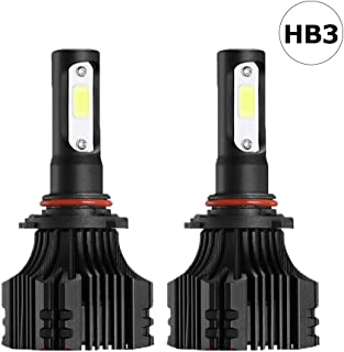 Auto-Ideas 2pcs 9005 HB3 led Fog Light bulb All in one led headlight Kit 6500K 8000LM Bright White foglight 72W Bridgelux COB Chip automotive lamp Car LED Headlight Bulb ALS-E236W-9005