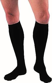 JOBST forMen Knee High 15-20 mmHg Compression Socks, Closed Toe, Large Tall, Black