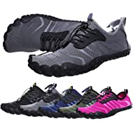 bridawn Men Women Quick Dry Barefoot Hiking Water Shoes for Swim Surf Exercise