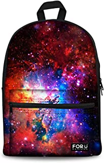 3D Galaxy School Backpack for Boys Girls Fashion Durable Book Bag Teens Rucksack