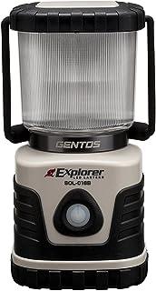 GENTOS(ジェントス) LED ランタン 【3色切替/明るさ600ルーメン/連続点灯14時間/防滴】 エクスプローラー SOL-016B ANSI規格準拠