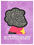 We Are The Crystal Gems Giclee Art Print Poster from Typography Drawing by Pop Artist 9' x 12'