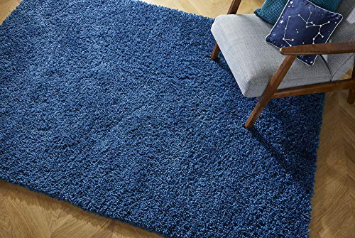 Rugs With Flair Brilliance Sparks - Alfombra Peluda (160 x 230 cm), Color Azul