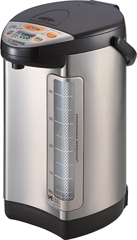 Zojirushi 586362 CV DCC50XT America Corporation Ve Hybrid Water Boiler And Warmer 5 Liter Stainless Dark Brown