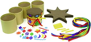 Colorations DIY Drum Kit, Set of 12, Native American, Foam Craft Kit, Self-Adhesive, for Kids, Toys for Kids, Early Learning, Multi-Cultural, Social Emotional, Social Sensitivity