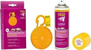 STOP&GO Anti Marder Duftkörbchen Duftkonzentrat auf Tierfettbasis + Duftmarken Entferner Spray 300ml